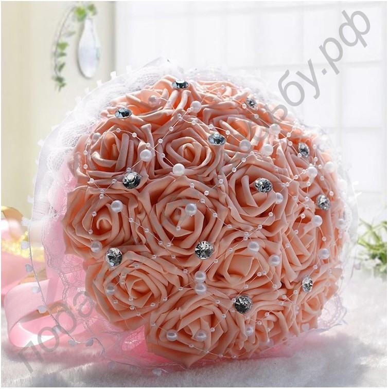 Как украсить букет роз своими руками